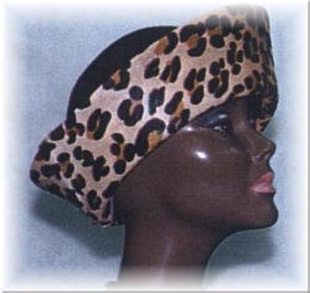 Leopard Print Crown Calf Skin Hat