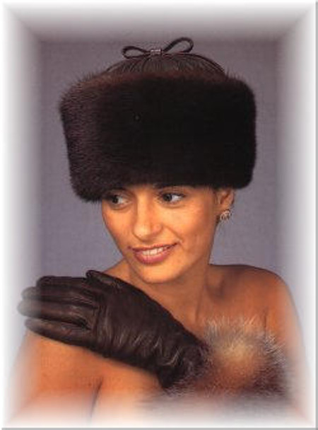 Sheared Leather Crown Fur Hat