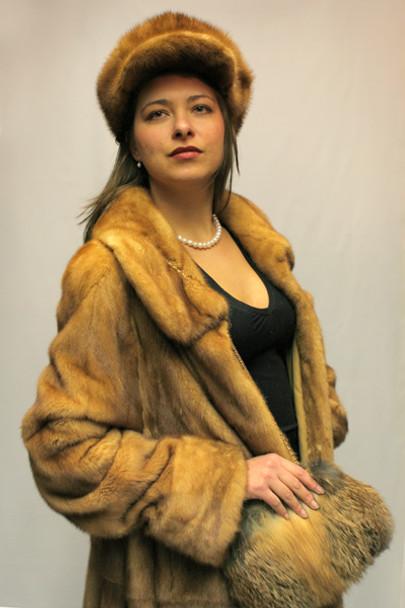 Whiskey Mink Fur Jacket