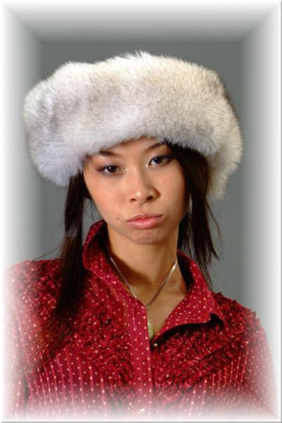 Natural Blue Fox Fur Headband