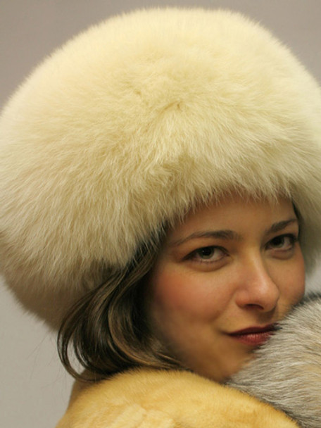New White Fox Hat