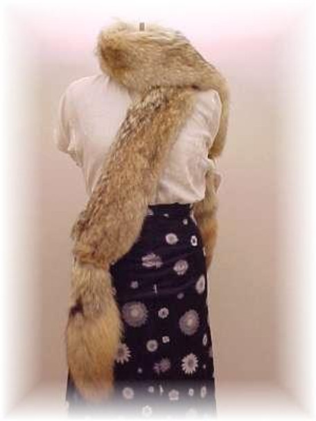 Full Skin Coyote Fur Scarf