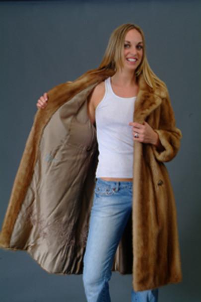 Vintage Mink Fur Multicolor Coat