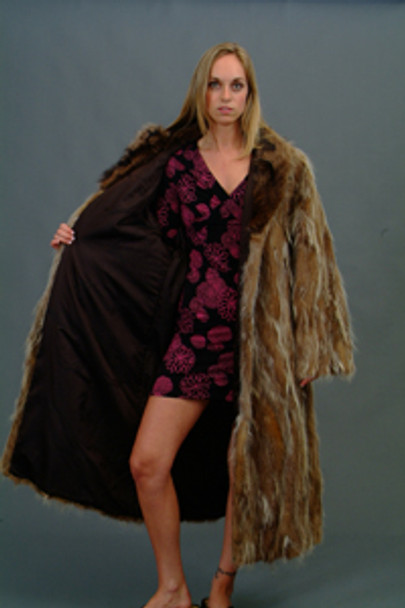 Vintage Fur Raccoon Sectional Coat 1