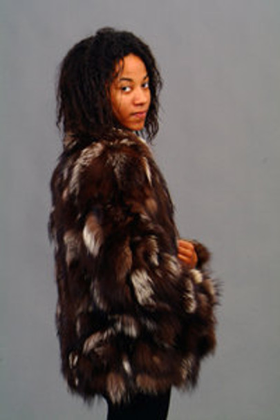 Vintage Fur Multicolor Fox Jacket