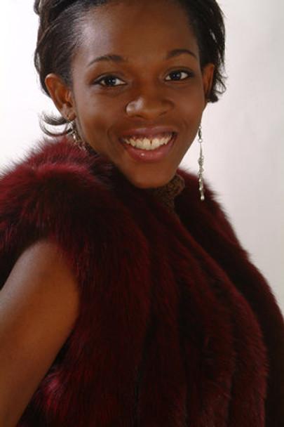Burgundy Fur Vest Design Full Skin