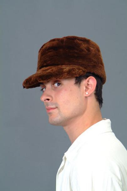 Sheared Beaver Fur Cap