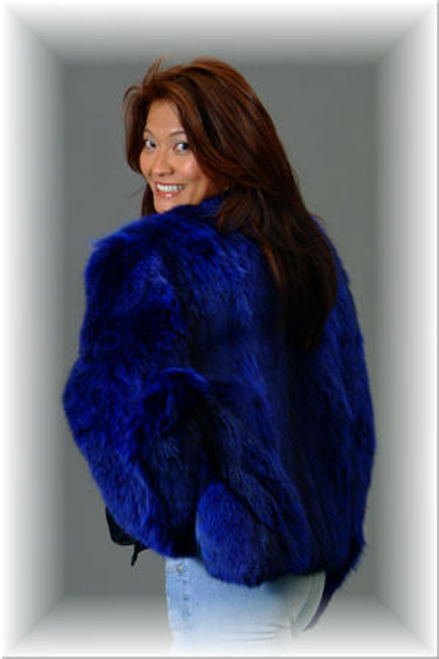 Blue Lynx Bolero Fur Jacket