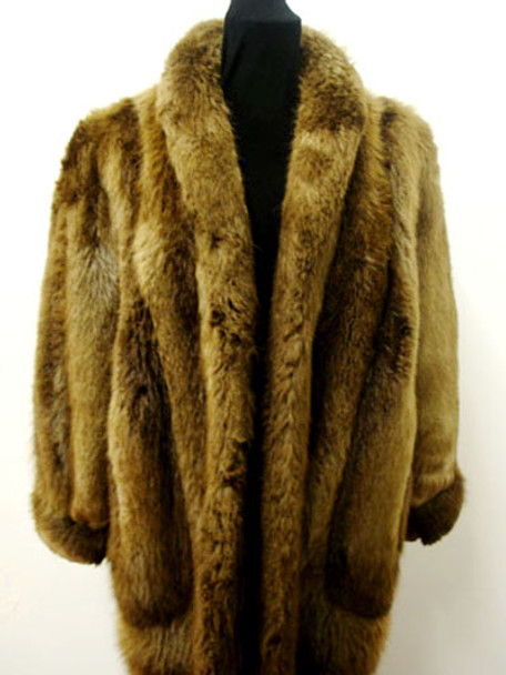 Vintage Fur Long Hair Beaver Woman's Jacket