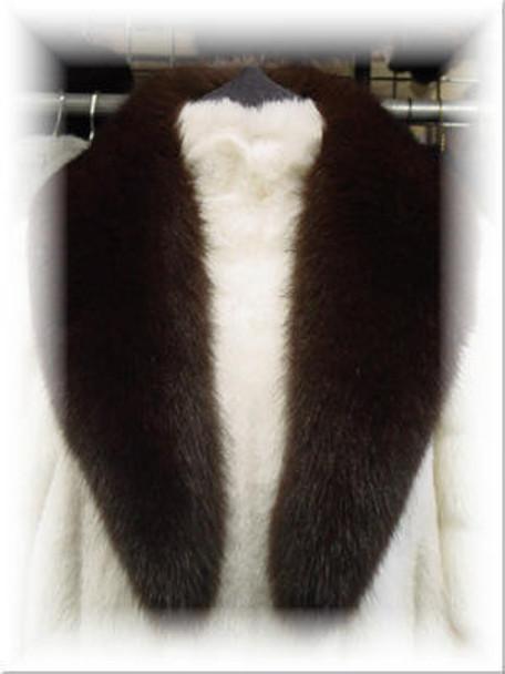 Full Skin Brown Fox Fur Collar