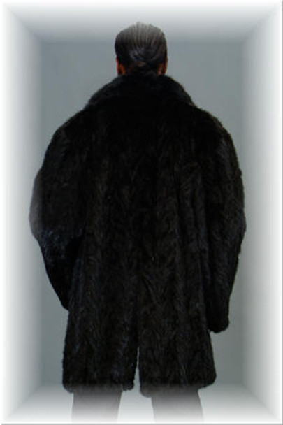 3/4 Mink Fur Jacket w/ Notch Collar 3