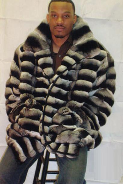 Mens Fur Chinchilla Jacket