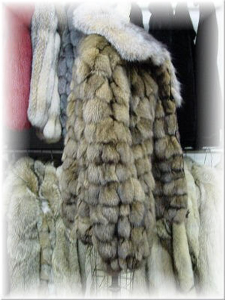 Crystal Fox Bomber Fur Jacket