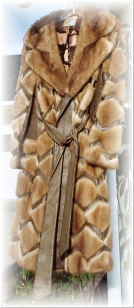 Coat With Leather Belt