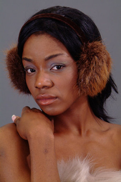 Brown Fox Fur Earmuffs 2