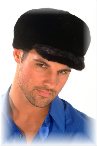 Black Glama Mink Small Brim Hat