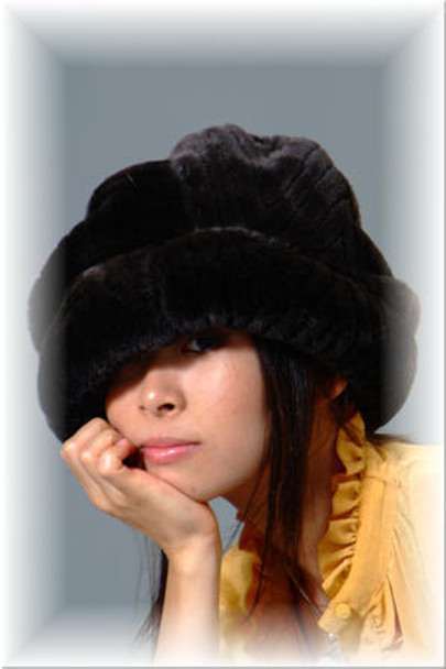 Black Faux Fur Hat 2