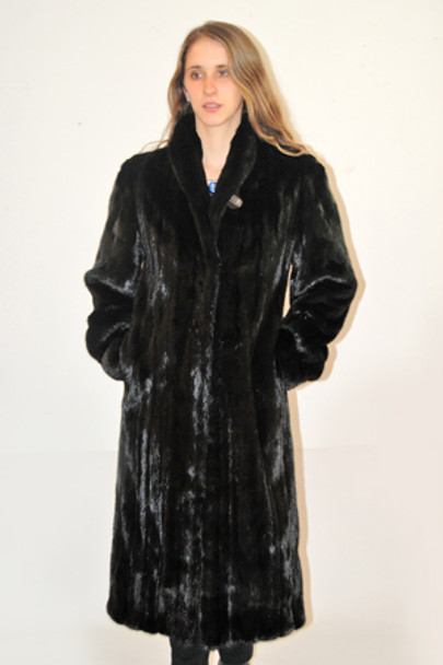 Black Mink Fur Coat 1
