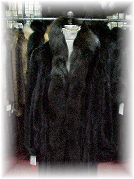 Dyed Dark Brown Fox Tail Fur Scarf 1