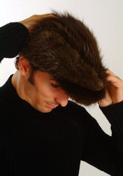 Brown Beaver Fur Men's