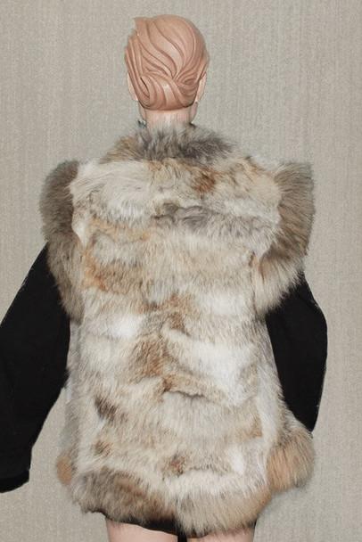 Coyote Fur Vest With coyote Fur Trim