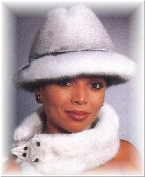 Mink Fur Brim Fedora Fur Hat