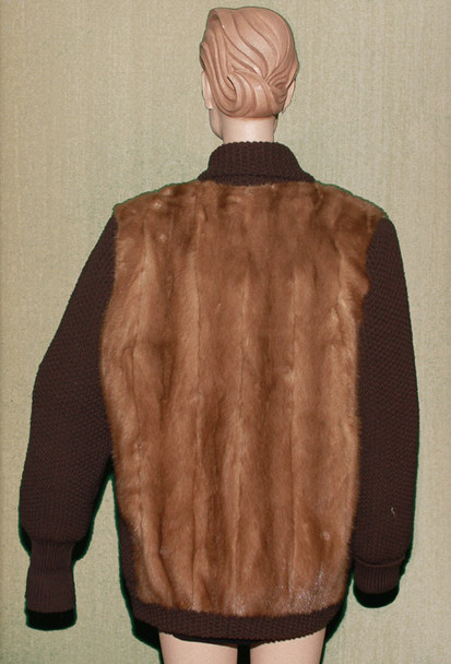 Vintage Mink Sweater Knitted Jacket