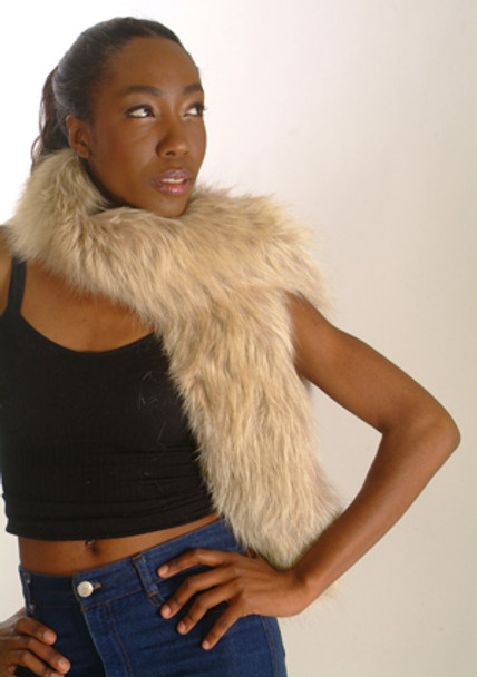 Snow Top Fur Design Women's Scarf