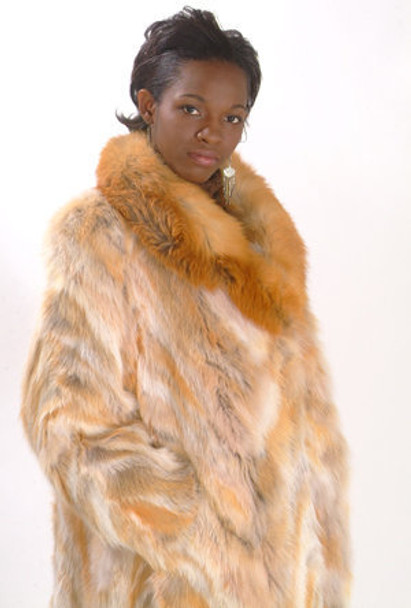Full Pelt Fox Fur Collar - Sectional Coat