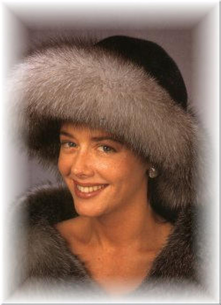 Fox Brim, Mink Crown Fur Hat