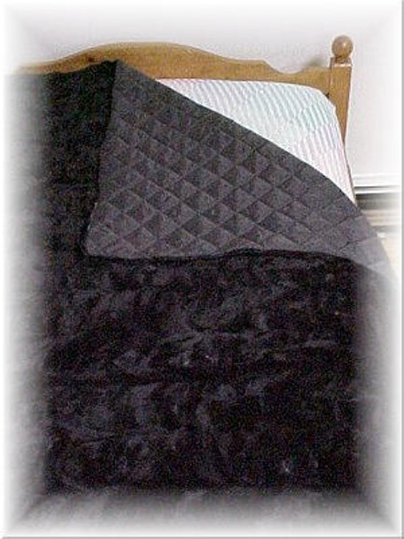Black Sectional Mink Fur Blanket