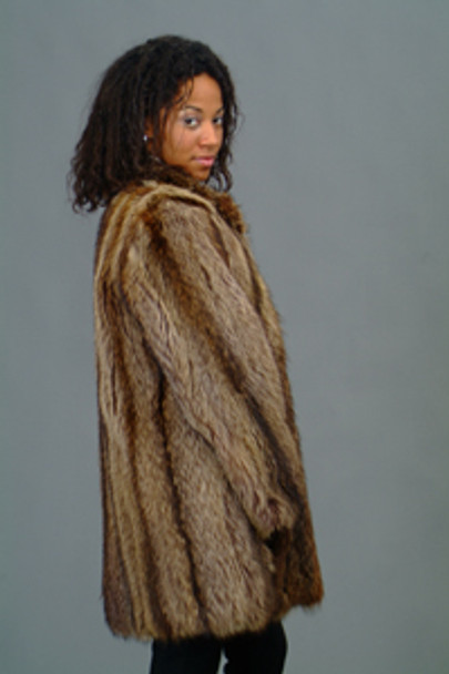 Vintage Fur Raccoon Full Skin Jacket