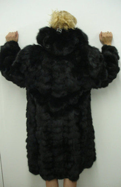 Design Fox Black Fur 3/4 Jacket