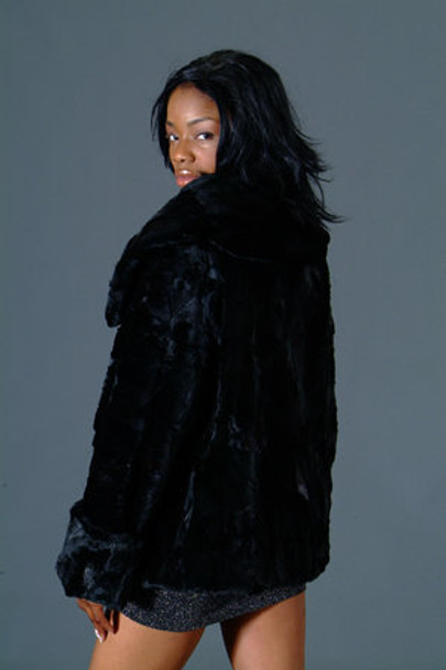Mink Jacket with Large Wing Collar