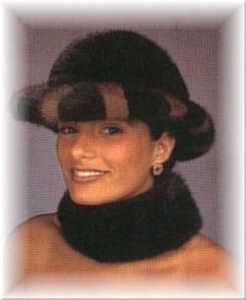 Two Tone Mink Fur Hat