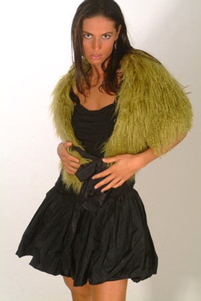 Green Shawl Fur Cape
