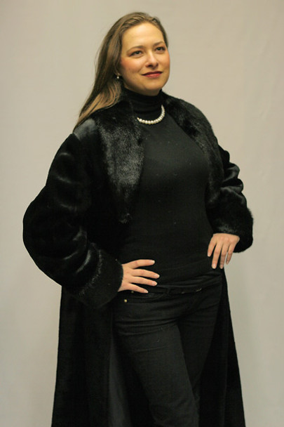 Faux Fur Beaver Coat 1