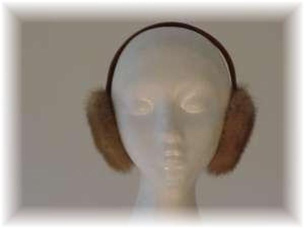 Pastel Mink Fur Earmuffs
