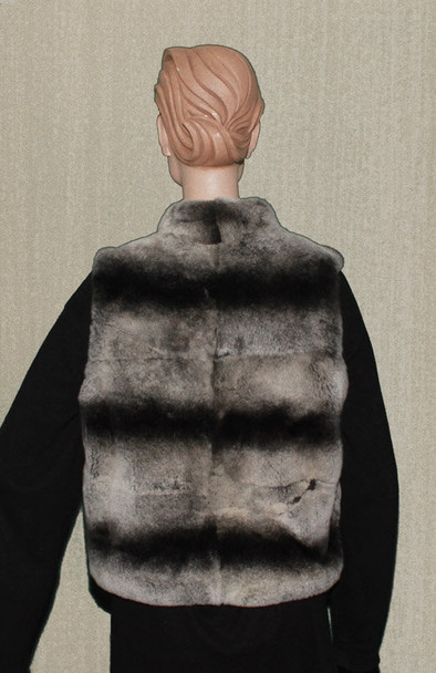 Chinchilla Rex Vest With zipper