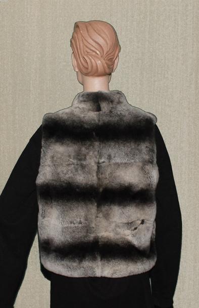 Chinchilla Rex Vest With zipper