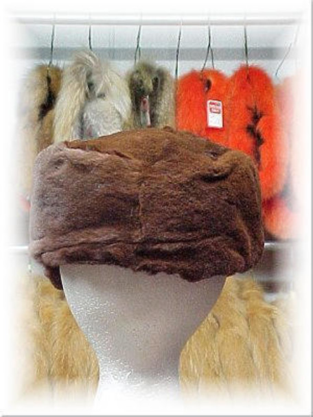 Full Skin Sheared Mahogany Mink Fur Cap