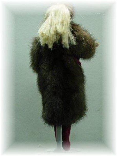 Doll's Full Skin Mahogany Mink Fur Coat