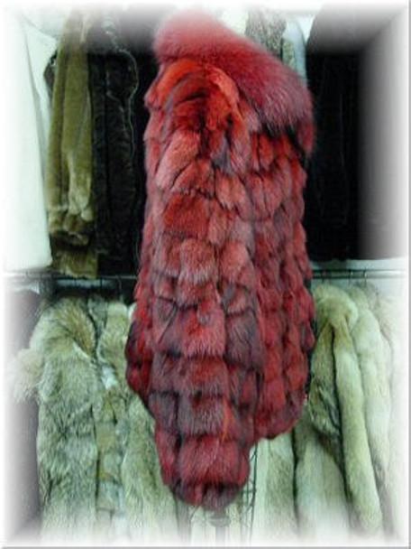 Red Fox Bomber Fur Jacket
