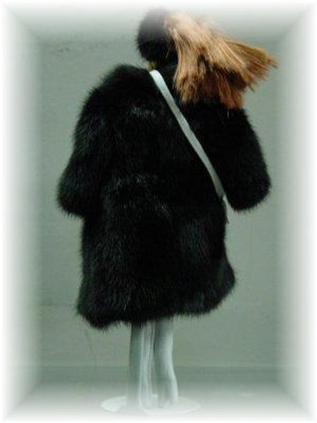Doll's Full Skin Ranch Mink Fur Coat