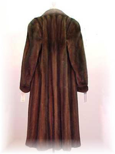 Mahogany Mink Fur Coat 7