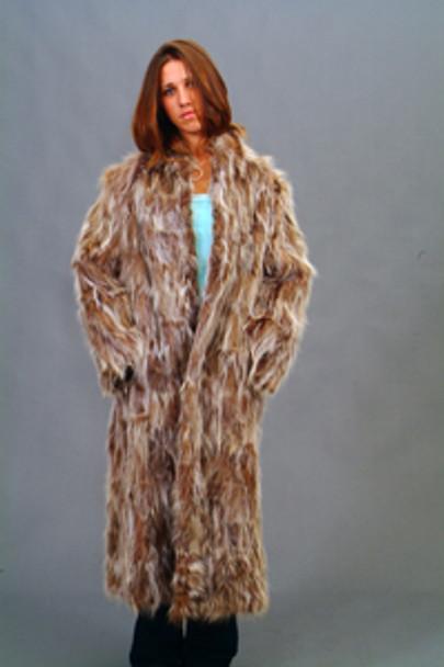 Vintage Fur Raccoon Sectional Coat