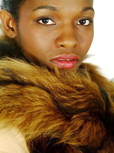 Light Brown Fox Fur Curly Tail Boa