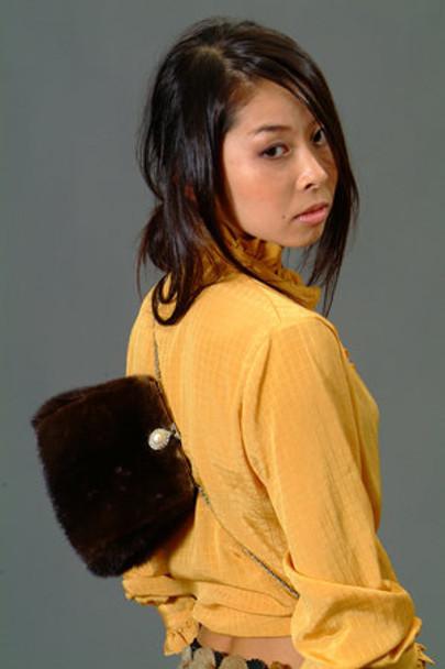 Mahogany Mink Fur  Clutch Bag