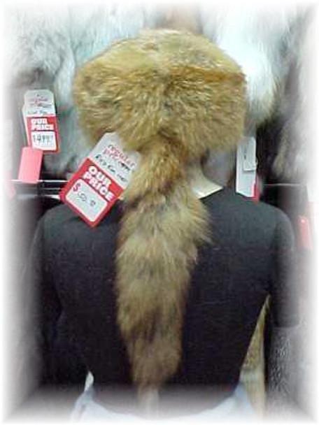 "Natural Red Fox ""Daniel Boone"" Fur Hat"