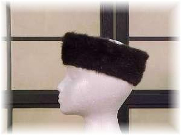 Full Skin Ranch Mink Fur Head Wrap